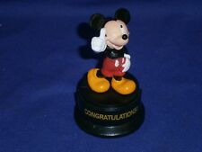 Vintage Disney Mickey Mouse Congratulations Trophy Pvc Figure by Applause 3¼in