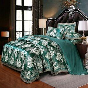 Luxury Silk Bedding Set Duvet Cover Bed Sheet Bed Linen Bed Skirt Pillowcases