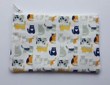 Cute Cats Fabric Handmade Zippy Coin Purse Storage Pouch