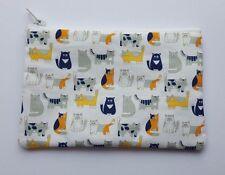 Cute Cats Fabric Handmade Zippy Coin Purse Storage Pouch