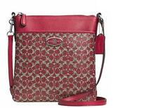 Brand New Authentic Coach North South Swingpack in Red Signature - F52400