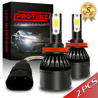 LED Headlight Kit Protekz 9003 H4 6000K CREE Hi Lo for 2003-2008 PONTIAC VIBE