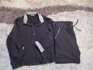 Womens Ladies Marks & Spencer's 2 piece Tracksuit/Leisure Wear  Size 16 Black