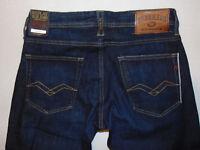 Replay RONAS Selvedge Slim W31 L32  RRP £170  Mens Indigo Stretch Denim Jeans