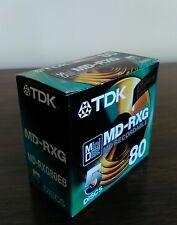TDK MD-RXG 80-Uno Nuovo di zecca scatola di 5 SIGILLATO 80 min. MINIDISC