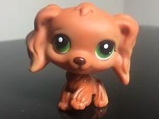Littlest Pet Shop Cocker Spaniel #252 Caramel / Brown Green  Eyes Very Cute