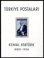 TURKEY 1939 KEMAL ATATURK SOUVENIR SHEET Sc. 841, NEVER HINGED