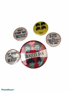 The Beatles Pinback Button Set Of 5