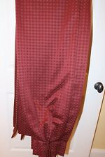 """Custom made maroon red pinch pleated lined drapes curtain panels 30"""" x 90"""" each"""