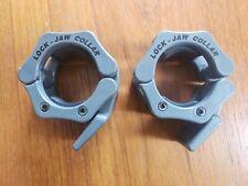 """PAIR HEX LOCKJAWS Body Solid 2/"""" Lock Jaw Olympic Barbell Collars BSTLJHX"""