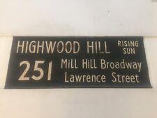 """London Linen Bus Blind 5917 36""""- 251 Highwood Hill Rising Sun Mill Hill Broadway"""