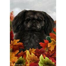 Fall Garden Flag - Black Pekingese 132791