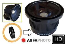 Super Wide 0.42x Fisheye Lens For Canon Vixia HF S200 S100