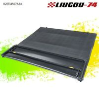 6.5 ft Bed Tri-Fold Tonneau Cover Black For 14-18 Chevy Silverado GMC Sierra