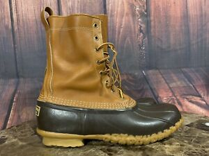 """LL BEAN Duck Boots Mens Size 10 M Maine Made in USA 10"""" Hunting Unlined SEE PICS"""