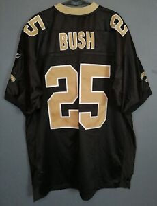 REEBOK MENS NEW ORLEANS SAINTS REGGIE BUSH #25 NFL FOOTBALL SHIRT JERSEY SIZE XL