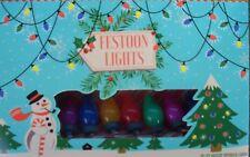 set of 80 coloured vintage retro style FESTOON decorative party fancy LED lights
