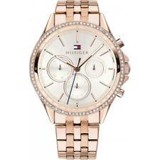 New Tommy Hilfiger Ladies Ari Carnation Rose Gold Chronograph Watch 1781978