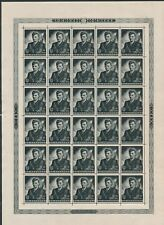 "Croatia B63 FULL PANE OF 30 ""JURE FRANCETIC(1944)"" MNH NO FAULTS *HARD TO FIND*"