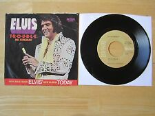 Elvis Presley 45rpm record & Picture Sleeve, T-R-O-U-B-L-E/Mr. Songman, 1975