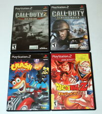 PS2 Call Duty 1 & 2 Finest Hour, Big Red One & Crash Tag Team, Dragonball Z Game