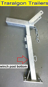 Hand winch post gal galvanised suits 50mm drawbar boat car jet ski trailer G18
