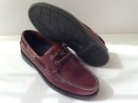 DOCKERS Brown Leather Casual Boat Shoes Mens Size 7