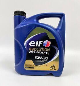 RENAULT ELF EVOLUTION FULL-TECH FE 5W-30 ENGINE OIL 5 LITRE SYNTHETIC RN0720
