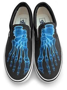 X-Ray Skeleton Feet Slip-on Vans Brand Shoes