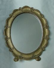 VINTAGE GOLD PAINTED SYROCO WOOD MIRROR OVAL