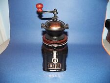 Hues & Brews Herman Dodge & Son Porcelain Cast Iron Wood Brass Coffee Grinder