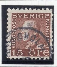 Sweden 1921-38 Early Issue Fine Used 15ore. 026722