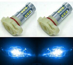 LED 80W 12085 5201 PS19W Blue 10000K Two Bulbs DRL Daytime Light Replace OE