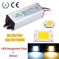 10W 20W 30W 50W 100W Waterproof High Power LED SMD Chip Bulb With Driver Supply