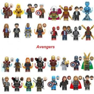 Lego Avengers DC Marvel Minifigures IronMan Thor Super Heroes Hulk Deadpool 200+