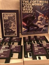 SOFTWARE TOOLWORKS STAR WARS CHESS PC GAME MS-DOS 3.5 INCH 14 FLOPPY DISKS