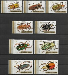 """BURUNDI - 1970 MNH """"Insects - BEETLES""""  Complete Set Of 9 Stamps !!!"""