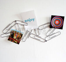 Giant Paperclip Noticeboard metal office novelty note xmas card holder