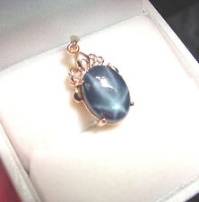 BEAUTIFUL GENUINE BLUE STAR SAPPHIRE  5.77 CTS 14K ROSE GOLD PENDANT