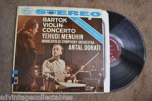 BARTOK Violin Concerto Yehudi Menuhin Orchestra original RECORD LP VG+