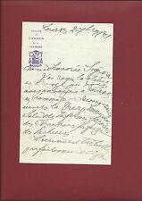 Lettera Autografa 1921 Vescovo Schoepfer Ringraziamento Donazione Statua