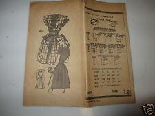 Vintage 50s N Y Mail Order Anne Adams Teen Age Pattern #4832 size12 complete