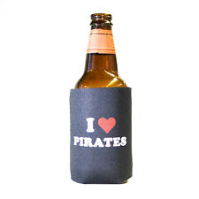 6 Lot I Heart Pirates Humor Pirate Beer Pop Can Koozie Koolie Cooler Insulator