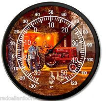 """New FARMALL Tractor Thermometer 10"""" DAVE BARNHOUSE Common Ground Farmer Break"""