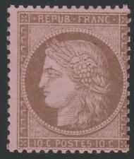 "FRANCE STAMP TIMBRE N° 58 "" CERES  10c BRUN SUR ROSE 1873 "" NEUF xx TB A VOIR"