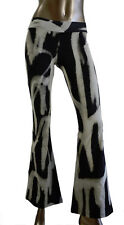 NWT Maurie and Eve Platinum Black/White Stretch Flare Sz 0/XS Planet Blue