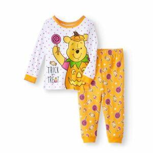 New Disney Winnie the Pooh girls 24 month toddler Halloween snug fit pajamas