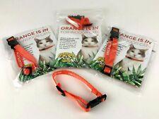 4 Dr. Elsey's Orange Cat Colllars Breakaway & Adjustable Fits Most Cats