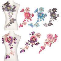 Trim Wedding Embroidered Collar Dress Applique Flower Neckline Clothes Patch