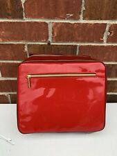 Estee Lauder Faux Patent Leather Red Cosmetic Case Make-up Bag